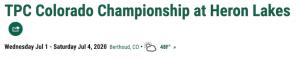TPC Colorado Championship